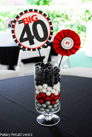 Centerpieces For Parties Paisley Petal Events 40th Birthday Party Centerpieces 4 Would