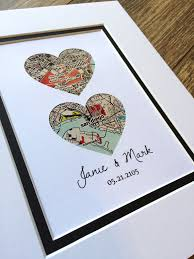 wedding gift one year rule personalised map picture map pictures couples and bird