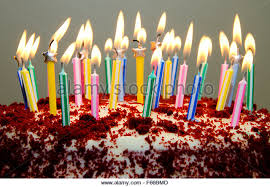 red velvet birthday cake with candles stock photos u0026 red velvet