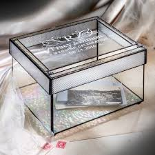 personalized box personalized gifts j devlin glass box wedding card box 841