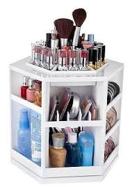 Hair And Makeup Storage Tabletop Spinning Cosmetic Organizer By Lori Greiner Makeup Case