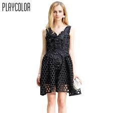 playcolor black v neck cocktail dresses 2017 a line short prom