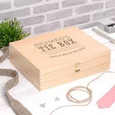 dashing gentleman s tie accessory wooden box printster