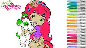 strawberry shortcake coloring book pages pupcake rainbow splash
