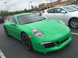 green porsche 911 stud or dud do bright colors work on the porsche 911 991