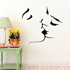 kiss wall stickers lover wall decal home bedroom wall decor kiss wall stickers
