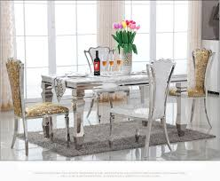 marble and stainless steel dining table 49 marble top dining table set furniture set jpg marble top dining