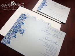 blue and silver wedding silver wedding invitations blue and silver wedding invitation