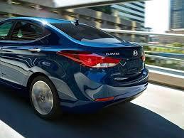 Barnes Crossing Hyundai 2014 Hyundai Elantra Sedan In Blue Rear Shot Hyundai Elantra