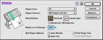 printable area change using the printer driver