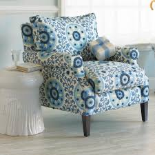 Patterned Armchair Decoration In Teal Blue Accent Chair Savoy Chair Eclectic