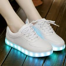 light shoes for women women sport shoes led light shoes 2017 pu led for sneakers