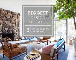 Big Area Rugs For Living Room by Design Mistake 2 The U0027too Small Rug U0027 Emily Henderson Small