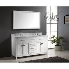 virtu bath vanities virtu usa md 2060 wmsq caroline 60 double square sinks bathroom