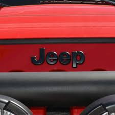 jeep black emblem 2007 2017 jeep wrangler jk matte black emblem overlay kit nox