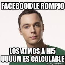Hi5 Meme - meme sheldon cooper facebook le rompio los atmos a hi5 uuuum es