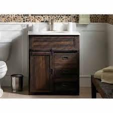 Bathroom Vanity With Top by Barn Door Brown Bathroom Vanity With Top Lowe U0027s Shoplocal Barn