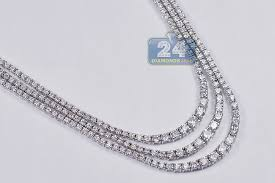 sapphire chain necklace images 18k white gold 11 17 ct diamond blue sapphire womens tennis necklace jpg