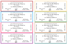 Make Your Own Ticket Template Free event ticket templates make your own printable tickets