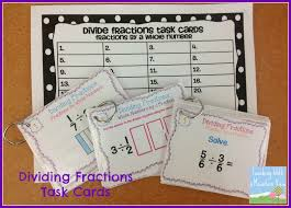 teaching with a mountain view dividing fractions anchor chart