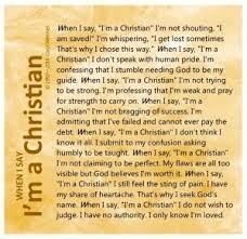 when i say i am a christian poem