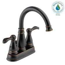 Brushed Bronze Bathroom Fixtures Bronze Bathroom Sink Faucets Bathroom Faucets The Home Depot