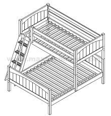 Maxtrix LShape Bunk Bed WAngled Ladder TwinFull - Right angle bunk beds