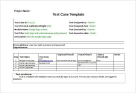 Testing Template Excel Sle Test Template Excel