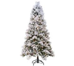 hallmark 6 5 sugared spruce tree with set technology qvc
