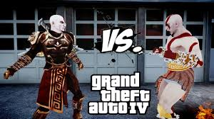 kratos vs kratos god armor god of war fight gta iv youtube