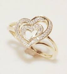 heart ring heart ring 0 50 ct gold shape gift