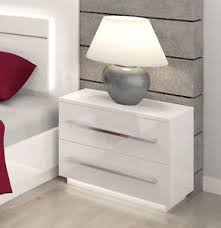 bedroom furniture bedside cabinets bedroom furniture bedside cabinet free led lights high gloss fronts
