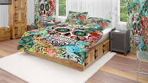sugar skull bedding comforter cover duvet covertwin queen