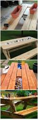 Best Wood To Make Picnic Table by Best 25 Diy Picnic Table Ideas On Pinterest Outdoor Tables