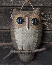 primitive owl folk ornie by rockriverstitches on etsy 19 00