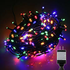 8 function multi color led christmas lights pms 1000 led multicolor string fairy lights on dark green cable with