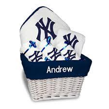 newborn infant new york yankees white personalized medium gift