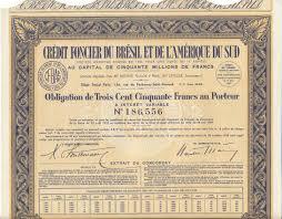 credit foncier si e social obligation 1939 brasilien credit foncier du bresil et de