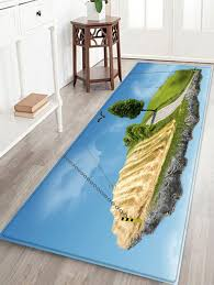 Blue Floor L 2018 Chains Hanging A Turf Land Print Soft Floor Rug Sky Blue W