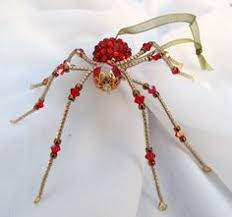 venetian glass beaded christmas spider ornament u0026 by spidertown