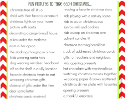 list of pictures to take each christmas its overflowing
