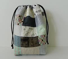 s o t a k handmade patchwork drawstring bag