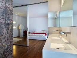 ouverte sur chambre salle de bain open space chambre maison séparateurs