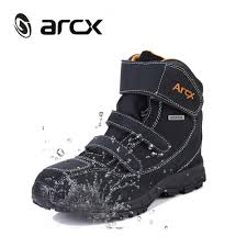 best street riding boots arcx motorcycle riding boots genuine cow suede leather waterproof