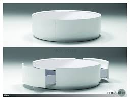 coffee tables attractive modern round coffee table with storage