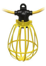 100 ft outdoor string lights 100 foot outdoor yellow commercial contractor grade plastic cage
