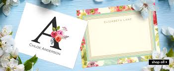 personalized notecards personalized stationery custom stationery personal stationary