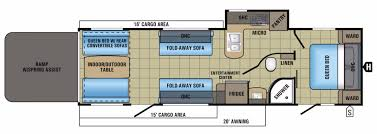5th Wheel Camper Floor Plans by Jayco Octane Rvs For Sale Camping World Rv Sales