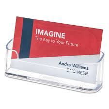 Clear Business Cards Horizontal Business Card Holder By Deflecto Def70101