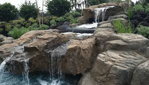 Backyard Water Falls by Custom Pool Waterfalls Water Features Ponds U0026 Backyard